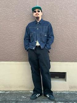 ルクア大阪の番場 祐太郎さんのEDWINの【コンセプトショップ限定】DENIM JACKETを使ったコーディネート