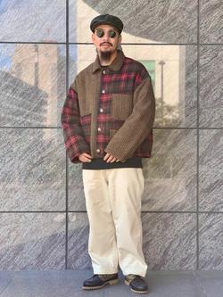 LINKS UMEDA店の番場 祐太郎さんのEDWINの【直営店限定】クルーネックスウェット(ヴィンテージ仕様)を使ったコーディネート