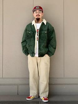 ルクア大阪の番場 祐太郎さんのLeeのボアジャケットを使ったコーディネート