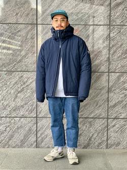 LINKS UMEDA店の番場 祐太郎さんのEDWINの【決算SALE】F.L.E エアーサックジャケット (二層防風)を使ったコーディネート