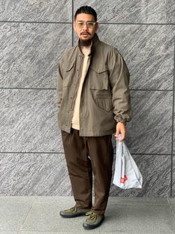 LINKS UMEDA店の番場 祐太郎さんのEDWINのフィールドジャケット(US ARMY M-65タイプ)を使ったコーディネート