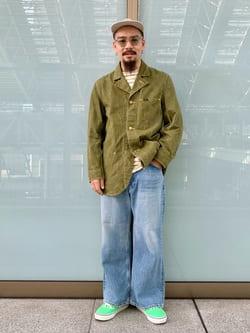 ルクア大阪の番場 祐太郎さんのLeeのSUPERSIZED ブーツカットを使ったコーディネート