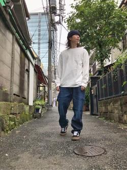 TOKYO HARAJUKU店のSHUさんのEDWINの【コンセプトショップ限定】POCKET TEEを使ったコーディネート
