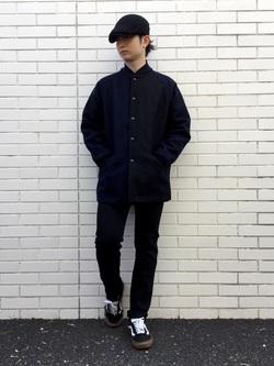 TOKYO HARAJUKU店のSHUさんのEDWINの【コンセプトショップ限定】EDWIN EUROPE SLIM TAPEREDを使ったコーディネート