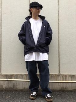 TOKYO HARAJUKU店のSHUさんのEDWINの【コンセプトショップ限定】F.L.E NAVY PACK  LEVEL4 LIGHT JACKETを使ったコーディネート