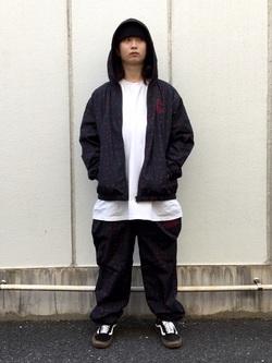 TOKYO HARAJUKU店のSHUさんのEDWINの【コンセプトショップ限定】EDWIN×ZOO YORK PRINT PANTSを使ったコーディネート