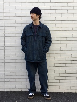TOKYO HARAJUKU店のSHUさんのEDWINの【コンセプトショップ限定】INDIGO GARMENTS FATIGUE JACKETを使ったコーディネート
