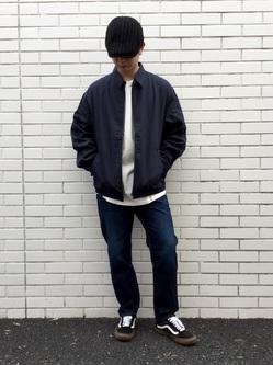 TOKYO HARAJUKU店のSHUさんのEDWINの【コンセプトショップ限定】REGULER TAPERED 【レングス71cm】を使ったコーディネート