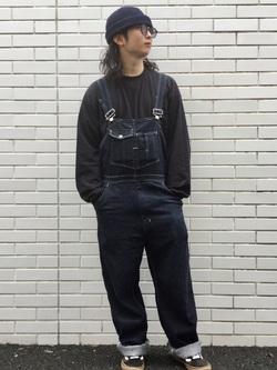 TOKYO HARAJUKU店のSHUさんのEDWINの【コンセプトショップ限定】OVERALLを使ったコーディネート