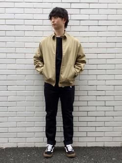 TOKYO HARAJUKU店のSHUさんのEDWINの【コンセプトショップ限定】SLIM TAPERED 【レングス77cm】を使ったコーディネート