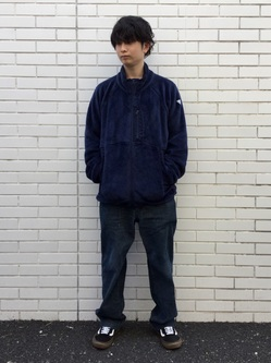 TOKYO HARAJUKU店のSHUさんのEDWINの【ガレージセール】【コンセプトショップ限定】F.L.E NAVY PACK  LEVEL3 FLEECE JACKETを使ったコーディネート