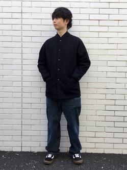 TOKYO HARAJUKU店のSHUさんのEDWINの【コンセプトショップ限定】EDWIN×SUNNY SPORTS PHARAOH COATを使ったコーディネート