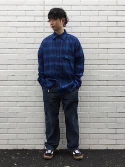 TOKYO HARAJUKU店のSHUさんのEDWINの【コンセプトショップ限定】INDIGO GARMENTS FATIGUE PANTSを使ったコーディネート