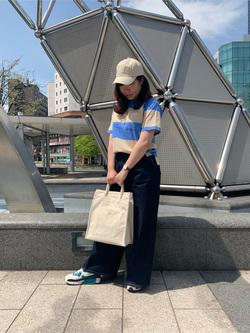 札幌パセオ店のPinanchosuさんのLeeの終了【サマーセール】【男女兼用】ボーダーTシャツ 半袖を使ったコーディネート