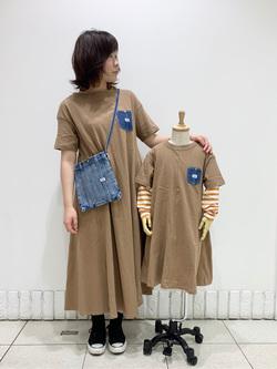 札幌パセオ店のPinanchosuさんのLeeのデニムポケット カットソーワンピースを使ったコーディネート