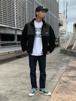 ルミネエスト新宿店のYukiyaさんのLeeの【ユニセックス】フリースジップアップジャケットを使ったコーディネート