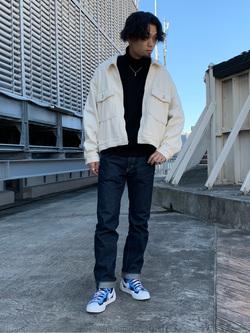 ルミネエスト新宿店のYukiyaさんのLeeの【再値下げ Winter sale】【セットアップ対応】チェトパ ジャケットを使ったコーディネート