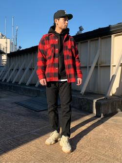 ルミネエスト新宿店のYukiyaさんのLeeの【Winter sale】【さらっと羽織れる】シャツジャケットを使ったコーディネート