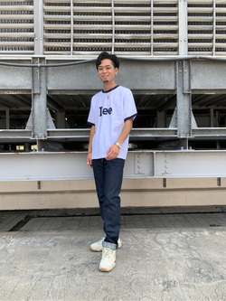 ルミネエスト新宿店のYukiyaさんのLeeの終了【再値下げ!サマーセール】70s ロゴリンガーTシャツ 半袖を使ったコーディネート