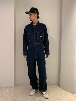 ルミネエスト新宿店のYukiyaさんのLeeの【男女兼用】DUNGAREES UNION-ALLS/つなぎ/ジャンプスーツ/オールインワンを使ったコーディネート