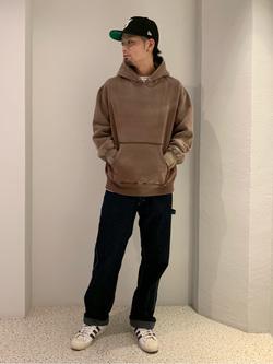 ルミネエスト新宿店のYukiyaさんのLeeの【再値下げ Winter sale】【USED WASH】スウェットパーカーを使ったコーディネート
