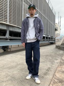 ルミネエスト新宿店のYukiyaさんのLeeの【再値下げ Winter sale】【ユニセックス】【やわらかフリース】ノーカラージャケットを使ったコーディネート