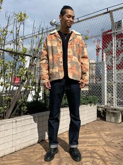 ルミネエスト新宿店のYukiyaさんのLeeのパッチワーク ボアジャケットを使ったコーディネート