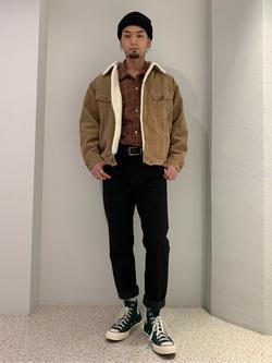 ルミネエスト新宿店のYukiyaさんのLeeの【Pre sale】BOA STORM RIDER ジャケット【コーデュロイ】を使ったコーディネート