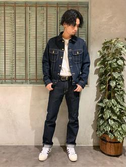 ルミネエスト新宿店のYukiyaさんのLeeのAMERICAN RIDERS 101Z ストレートジーンズを使ったコーディネート