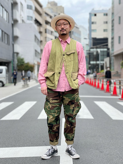 ALPHA SHOP渋谷店のKataoka.RさんのALPHAのジャングルカーゴパンツを使ったコーディネート