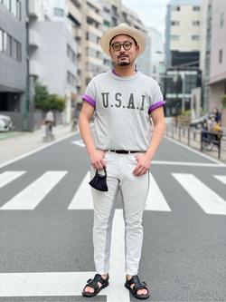 ALPHA SHOP渋谷店のKataoka.RさんのALPHAの終了【ガレージセール】U.S.A.I ビンテージプリントTシャツを使ったコーディネート