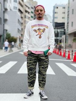 ALPHA SHOP渋谷店のKataoka.RさんのALPHAの【試着対象】【期間限定10%OFF】ジャングルカーゴパンツを使ったコーディネート