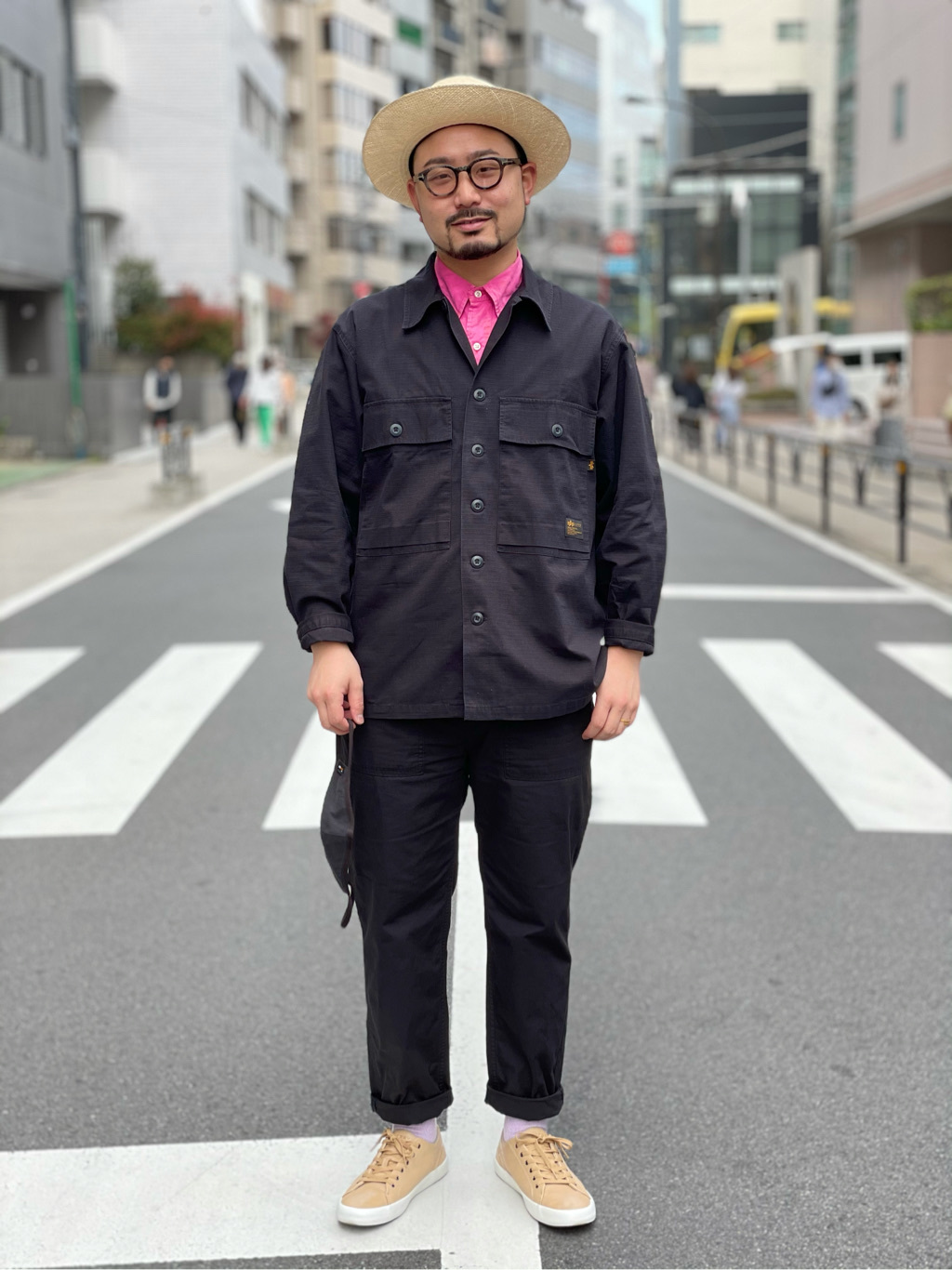 ALPHA SHOP渋谷店のKataoka.RさんのALPHAのミリタリーオーバーシャツを使ったコーディネート