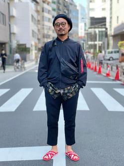 ALPHA SHOP渋谷店のKataoka.RさんのALPHAの【ガレージセール】【Safari 4月号掲載】【接触冷感】SHELTECH ライトL-2Bを使ったコーディネート