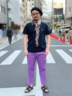 ALPHA SHOP渋谷店のKataoka.RさんのALPHAの【ALPHA×GRAMICCI(グラミチ)】シガレットポケット 半袖Tシャツを使ったコーディネート