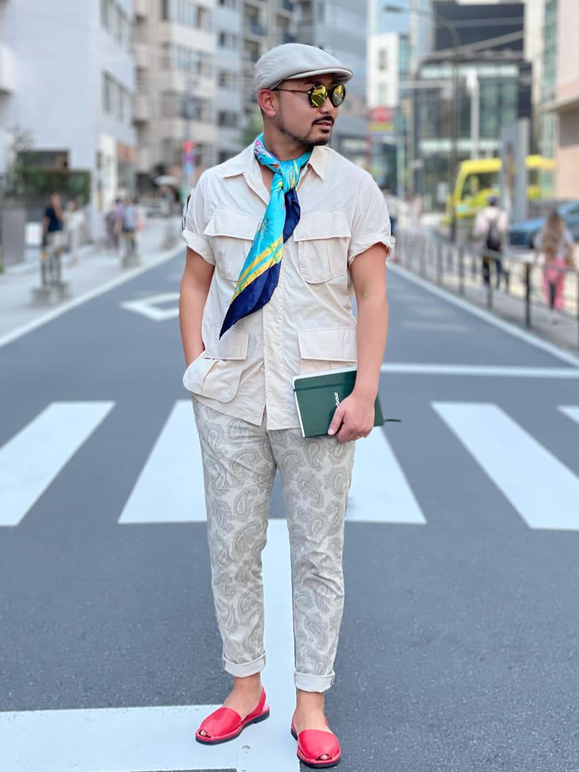 ALPHA SHOP渋谷店のKataoka.RさんのALPHAの【再値下げSALE】ファティーグシャツを使ったコーディネート