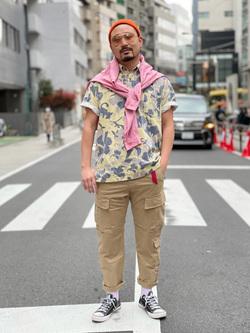 ALPHA SHOP渋谷店のKataoka.RさんのALPHAの【ALPHA×GRAMICCI(グラミチ)】ACUタイプカーゴパンツを使ったコーディネート