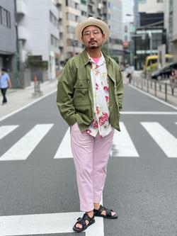 ALPHA SHOP渋谷店のKataoka.RさんのALPHAの【SALE】ミリタリーオーバーシャツを使ったコーディネート
