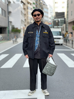 ALPHA SHOP渋谷店のKataoka.RさんのALPHAのユーティリティーシャツを使ったコーディネート