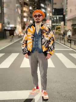 ALPHA SHOP渋谷店のKataoka.RさんのALPHAの【ユニセックス】プリントライニング MA-1を使ったコーディネート