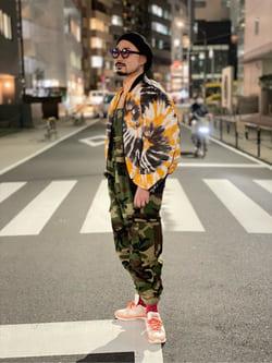 ALPHA SHOP渋谷店のKataoka.RさんのALPHAの【15%OFFクーポン対象】M-51 ミリタリーオーバーオールを使ったコーディネート