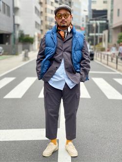 ALPHA SHOP渋谷店のKataoka.RさんのALPHAの【期間限定20%OFF】【Begin 12月号掲載】カバーオールを使ったコーディネート