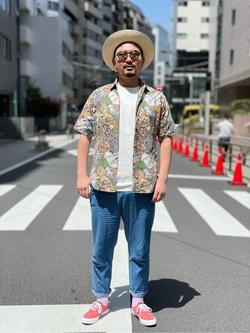 ALPHA SHOP渋谷店のKataoka.RさんのALPHAの【再値下げSALE】【直営店限定】半袖Tシャツ MADE IN USAを使ったコーディネート