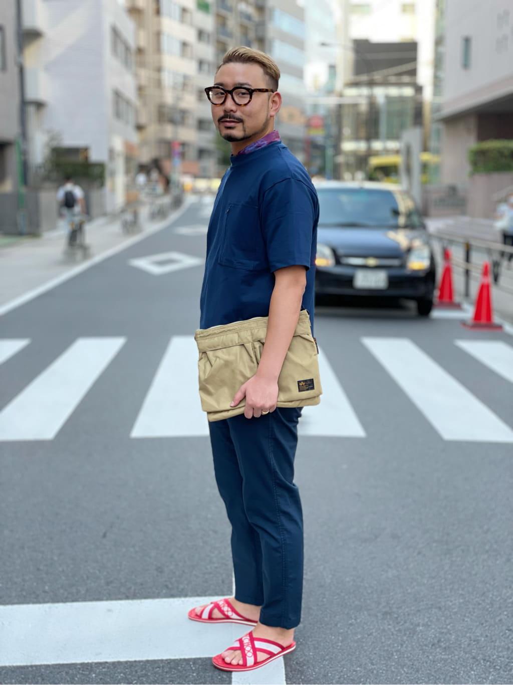 ALPHA SHOP渋谷店のKataoka.RさんのALPHAのサイドポケット 半袖Tシャツを使ったコーディネート