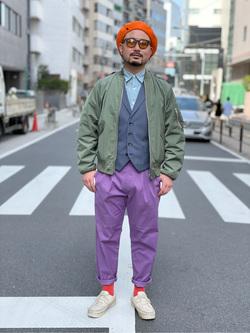 ALPHA SHOP渋谷店のKataoka.RさんのALPHAのL-2Bポリエステルタフタを使ったコーディネート