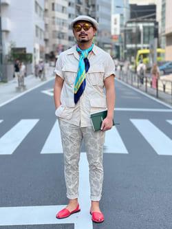 ALPHA SHOP渋谷店のKataoka.RさんのALPHAの【TOPS 15%OFFクーポン対象】【SALE】ファティーグシャツを使ったコーディネート