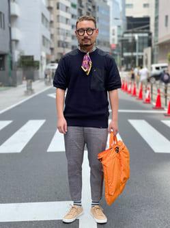 ALPHA SHOP渋谷店のKataoka.RさんのALPHAのコマンドセーター 半袖を使ったコーディネート