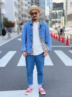 ALPHA SHOP渋谷店のKataoka.RさんのALPHAの【ガレージセール】【直営店限定】半袖Tシャツ MADE IN USAを使ったコーディネート