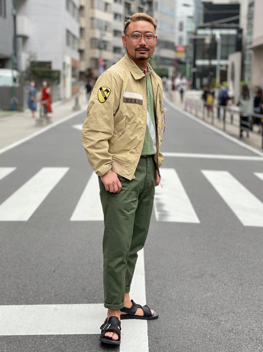 ALPHA SHOP渋谷店のKataoka.RさんのALPHAの【SALE】CVC パッチドタンカースジャケットを使ったコーディネート