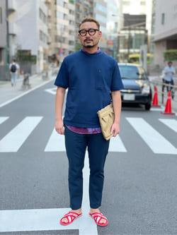 ALPHA SHOP渋谷店のKataoka.RさんのALPHAの【TOPS 15%OFFクーポン対象】サイドポケット 半袖Tシャツを使ったコーディネート